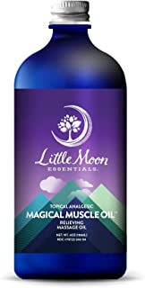 Little Moon Essentials Relieving Massage Oil, Magic Muscle Oil, 4 oz.