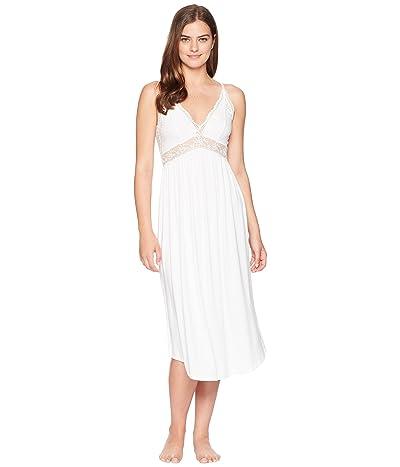 Eberjey Colette Long Gown (White) Women