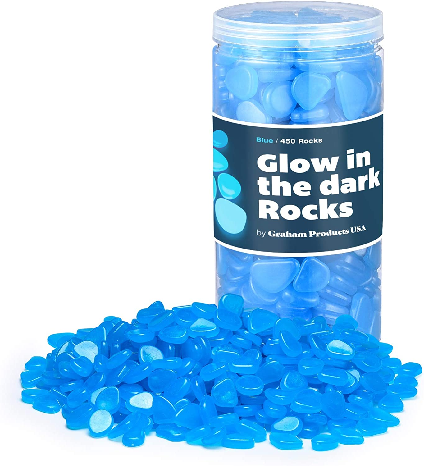 Save money Graham Products Glow in Super sale period limited The Stones Glowing Non-Toxic Dark Rocks