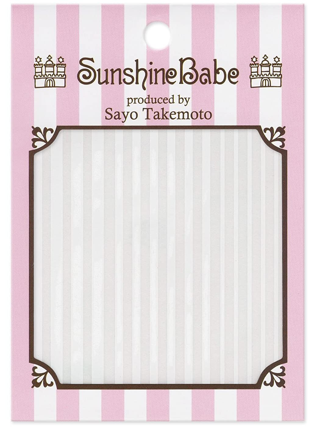 間違っている報いる導出サンシャインベビー ジェルネイル 武本小夜のネイルシール Sayo Style ストライプ mix ホワイト