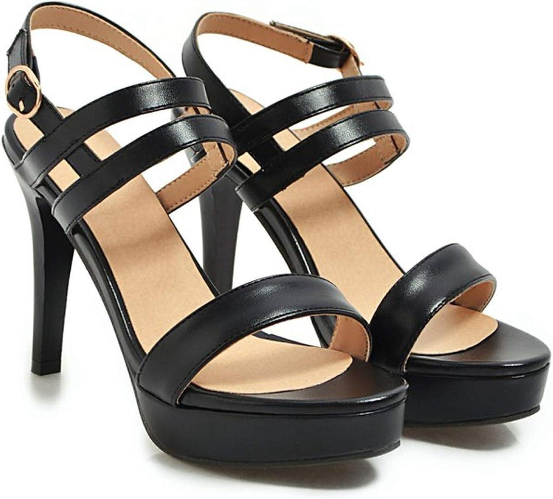 Women's Sandals Summer Fish Mouth Open Toe Buckle Fine Heel High Heel Women's shoes