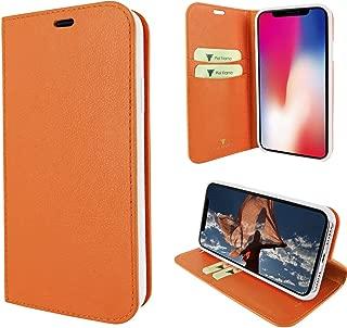 Piel Frama iPhone X/Xs FramaSlimCards Leather Case - Orange