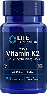 Life Extension Mega Vitamin K2, 30 Count