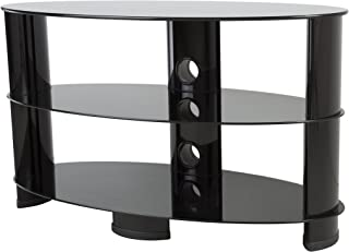AVF OVL850BB-A TV Stand with Glass Shelves for TVs up to 42 Inch, Black