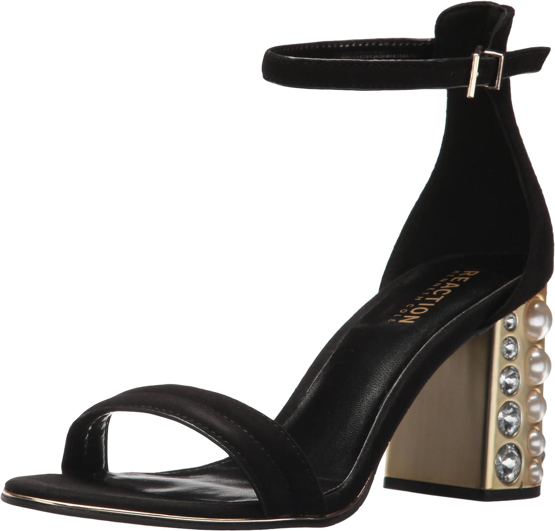Kenneth Cole REACTION Women's Liandra Strappy Faux Pearl Heel Heeled Sandal