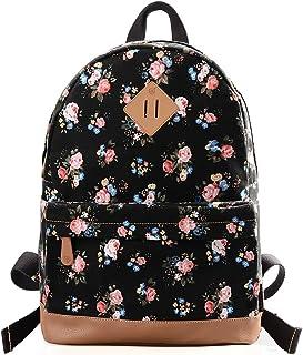 Women Fashion Floral Backpack Lightweight Bookbag 133Ablack