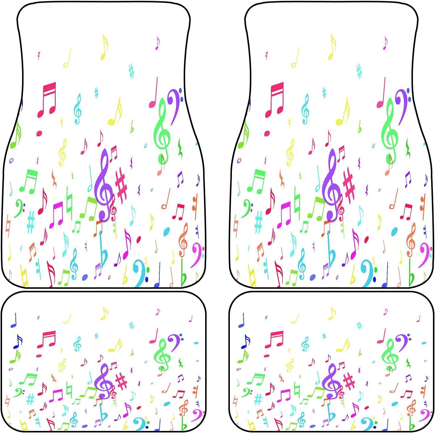 VINISATH Front Rear Over item handling Ranking TOP6 Car Mats Set Colorful Flying Musical 4 of