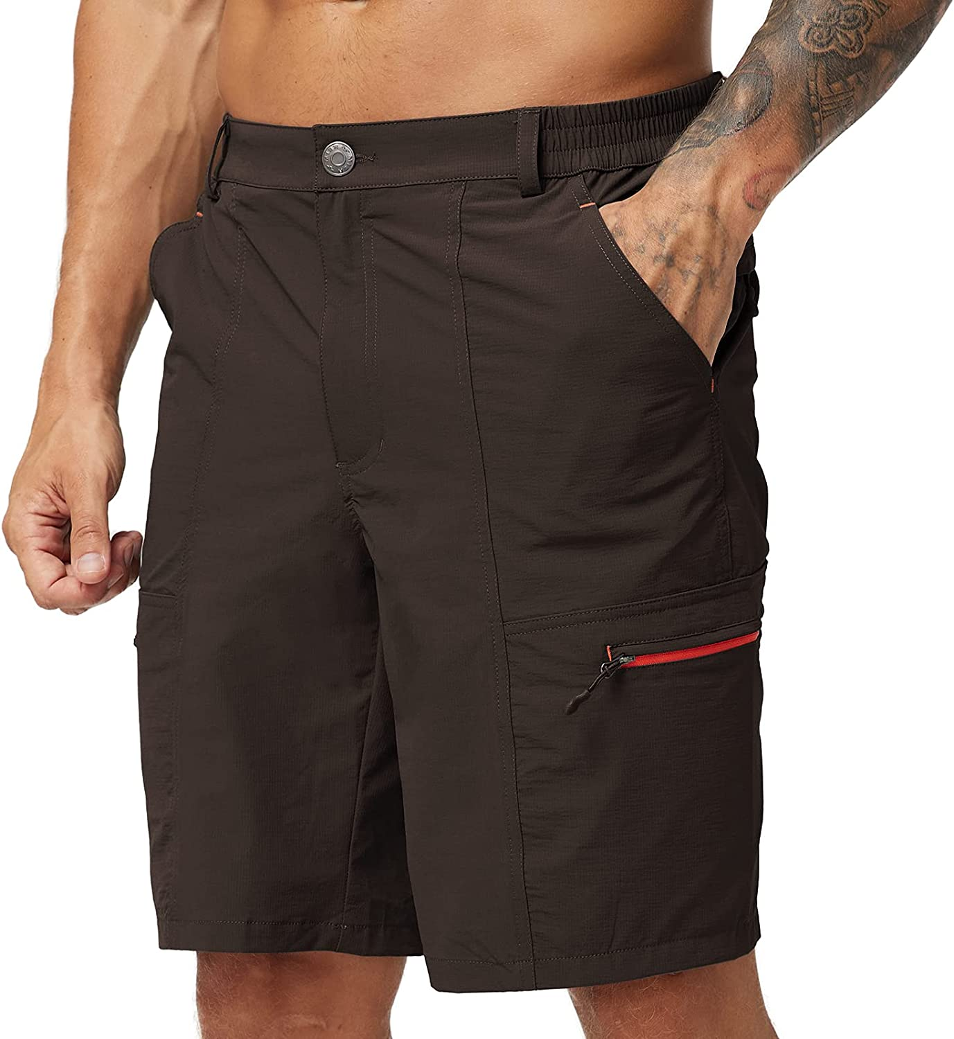 MIER Men's Hiking Cargo Shorts Quick Dry Outdoor Nylon Short with 6 Pockets, Water Resistant, Lightweight : Clothing, Shoes & Jewelry
