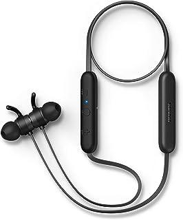 Philips Bluetooth In Ear Kopfhörer E1205BK/00 mit Mikrofon (Inline Fernbedienung, Echoreduzierung, 7 Stunden Spielzeit, Spritzwasserschutz IPX4, Magnetische Ohrstöpsel) Schwarz   2020/2021 Modell