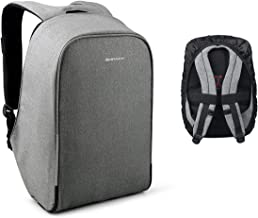 Kopack Waterproof Anti Theft Laptop backpack with USB Charging Port Business ScanSmart Travel bag 15.6 inch Gray Black with Rain Cover (Grey)