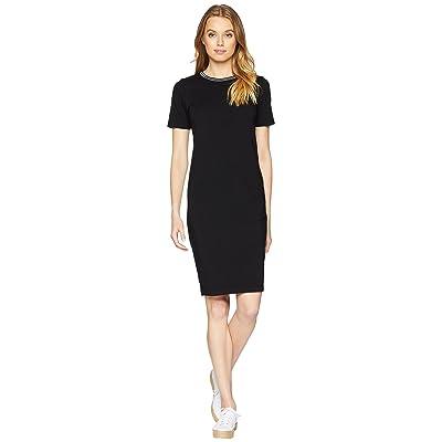 Michael Stars Athletic Stripe Midi Dress (Black) Women