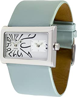 Moog Paris Stars Womens Watch with White Dial, Blue Strap in Genuine Leather - M41612