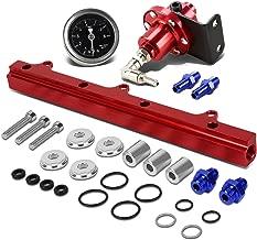 For Honda B-Series Top Feed Fuel Injector Rail Kit+Fuel Pressure Regulator (Red)