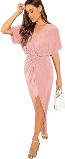 Best pink twist front dress Reviews