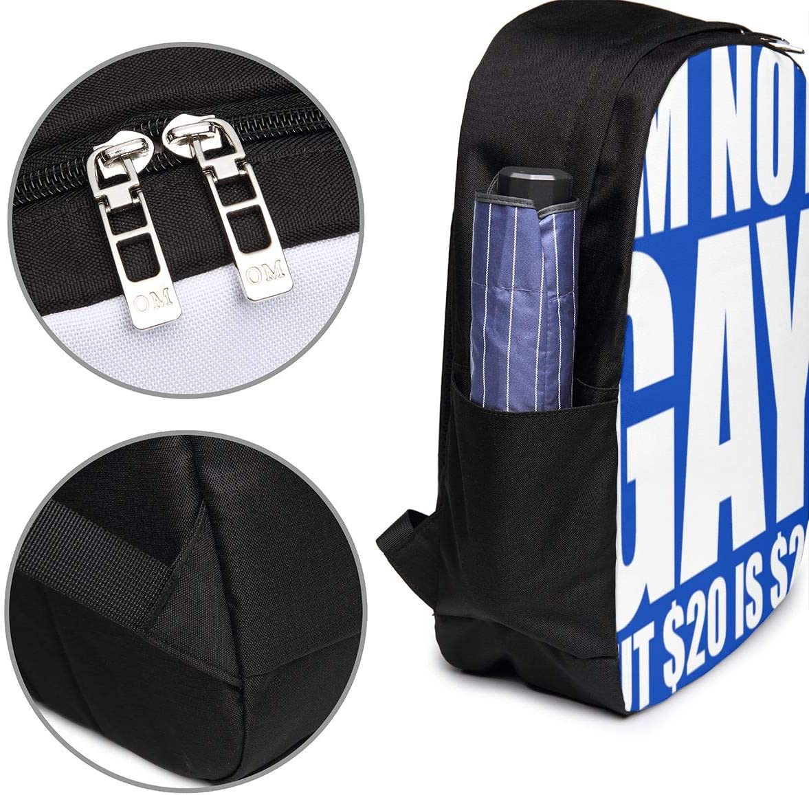 Im Not Gay But $20 is $20 USB Backpack 17 Inches High-Capacity for Working