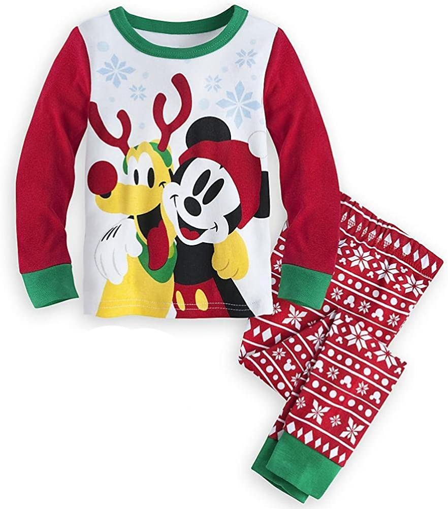 Disney Limited price sale Store Mickey Mouse Pluto Christmas Tight Fit half 2PC Holiday