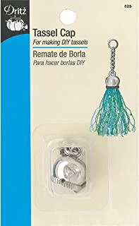 Dritz 825, Tassel Cap with Loop and Chain, Nickel
