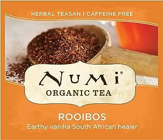 Numi Organic Tea Rooibos, 100 Count Box of Tea Bags, Herbal Teasan (Packaging May Vary)