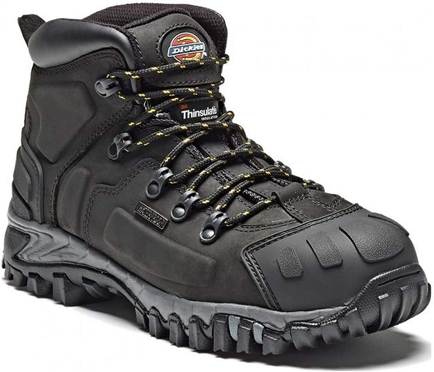 Dickies Medway Super Safety Hiker Waterproof and insulated, Steel Toe Cap & Mid Sole EN20345 S3 SRA BLACK (FD23310) SIZE 6