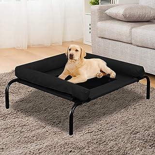 PaWz Pet Bed Heavy Duty Frame Hammock Bolster Trampoline Dog Puppy Mesh S Black Small Black