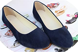 Fashion Trend Simple Sweet Classic Women New Casual High-End Flock Boat Girls Office Shoes