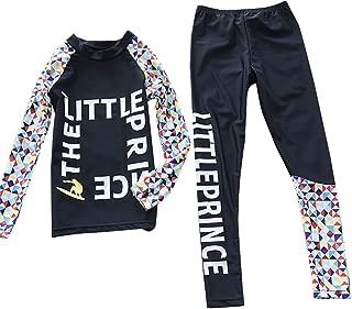 Kids Two Piece Rashruard Swimsuit Long Sleeve Sun Protection Wetsuit 5-9T