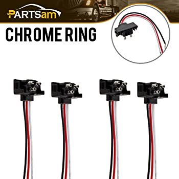 Amazon Com 8x Truck Trailer Molded 3 Prong Pigtail Harness Stop Turn Tail Brake Backup Light Automotive