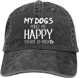 Denim Fabric Adjustable Dog Mom Fashion Baseball Cap