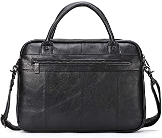 Leather Bag Mens Leather Briefcase Fashion Leisure Men Business Briefcase Portable Computer Bag Gift Men's Bag High Capacity (Color : Brown, Size : S)