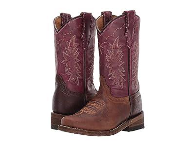 Corral Boots Kids E1478 (Toddler/Little Kid) (Brown/Purple) Boy