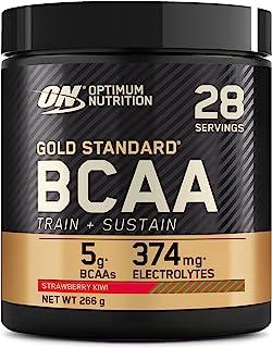 Optimum Nutrition Gold Standard BCAA, Acides Aminés en Poudre, Complément Alimentaire avec Vitamine C, Zinc, Magnésium et ...