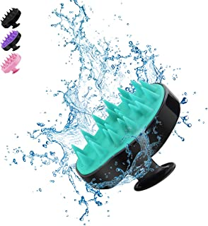 Hair Scalp Massagers, BELICOO Shampoo Brush with Soft Silicone Flexible Comb, Promote Hair Growth, Protecte Manicure, Wet & Dry Use, for Home/Office/Adult/Kid/Pet (Black Green)