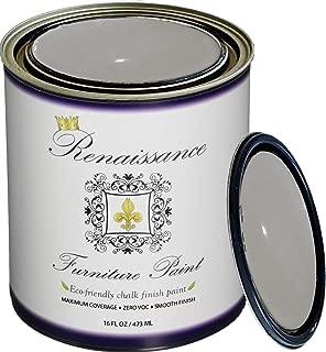 Retique It Chalk Finish Paint by Renaissance - Non Toxic, Eco-Friendly Chalk Furniture & Cabinet Paint - 16 oz (Pint), Dove Gray
