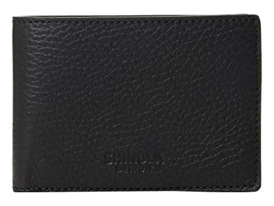 Shinola Detroit Super Slim Bifold Luxe Grain (Black) Bi-fold Wallet