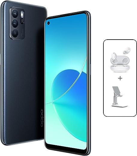 OPPO Reno6 Z Dual SIM 5G Smartphone 128GB 8GB RAM, 30W VOOC Flash Charge 64MP AI Triple Camera, 5G Mobile Phone Unlocked (UAE Version) Stellar…