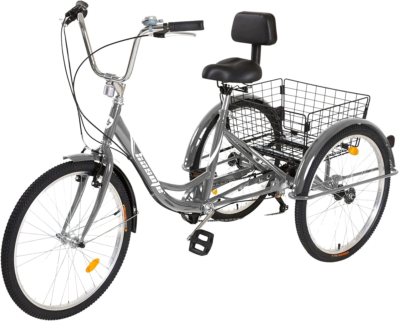 Max 50% OFF hosote Adult Tricycle 24 inch Bike Cruiser Wheels Shiman Three Over item handling ☆