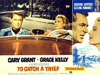 Posterazzi To Catch A Thief Art Cary Grant Grace Kelly 1955 Movie Masterprint Poster Print, (14 x 11)