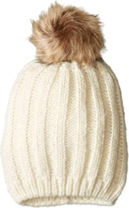 346de326 Hat attack rib slouchy with faux fur pom | Shipped Free at Zappos