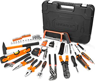 Home Repair Tool Kit, V VONTOX 220PCS Household Hand Tool Kit for Daily Repair and Maintenance, Pliers, Claw Hammer, Ratch...