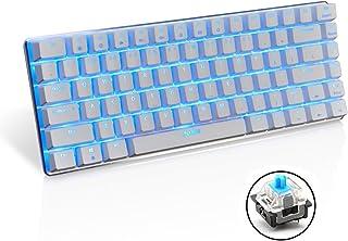 comprar comparacion Teclado mecánico AK33 de Lexon tech, teclado para juegos con cable USB con retroiluminación LED azul, teclado compactos de...