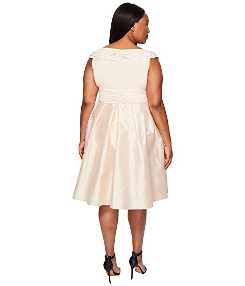 Adrianna Papell Plus Size Fit And Flare Taffeta Skirt And