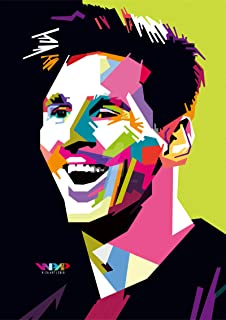 VVWV The Lionel Messi The Goat Football God Posters for Wall Large Room Motivational Room Decoration L X H 30.48 X 45.72