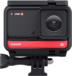 Insta360 ONE R 4K Edition Anti-shake Sports Action Camera 4K Wide Angle Lens Supports FlowState Stabilization 5M Body Wate...