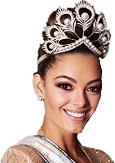 Wiipu Miss Universe Mikimoto Crown Huge Pearl Bride Wedding Tiara(A1140)-Silver