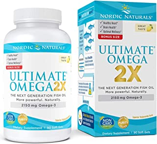 Nordic Naturals Ultimate Omega 2X - Extra Omega-3s Support Heart, Brain, and Immune Health, 90 Count