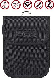 RFID Signal blockierende Hülle, Wisdompro® RF Signal Schirmungs Beutel, Tasche für Auto Schlüsselanhänger (schwarz)