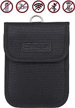 RFID Key Fob Protector, Wisdompro RF Signal Shielding Pouch Bag for Car Key FOB (Black)