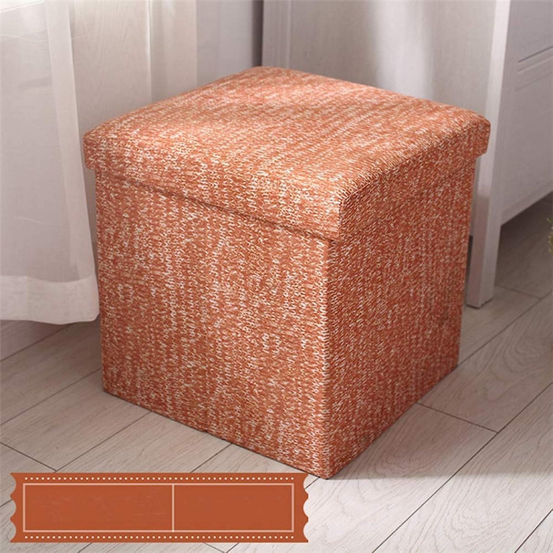 ZhiGe Storage seat,Multifunctional Modern Home Storage Stool Folding Storage Fabric Change shoes Toy Box