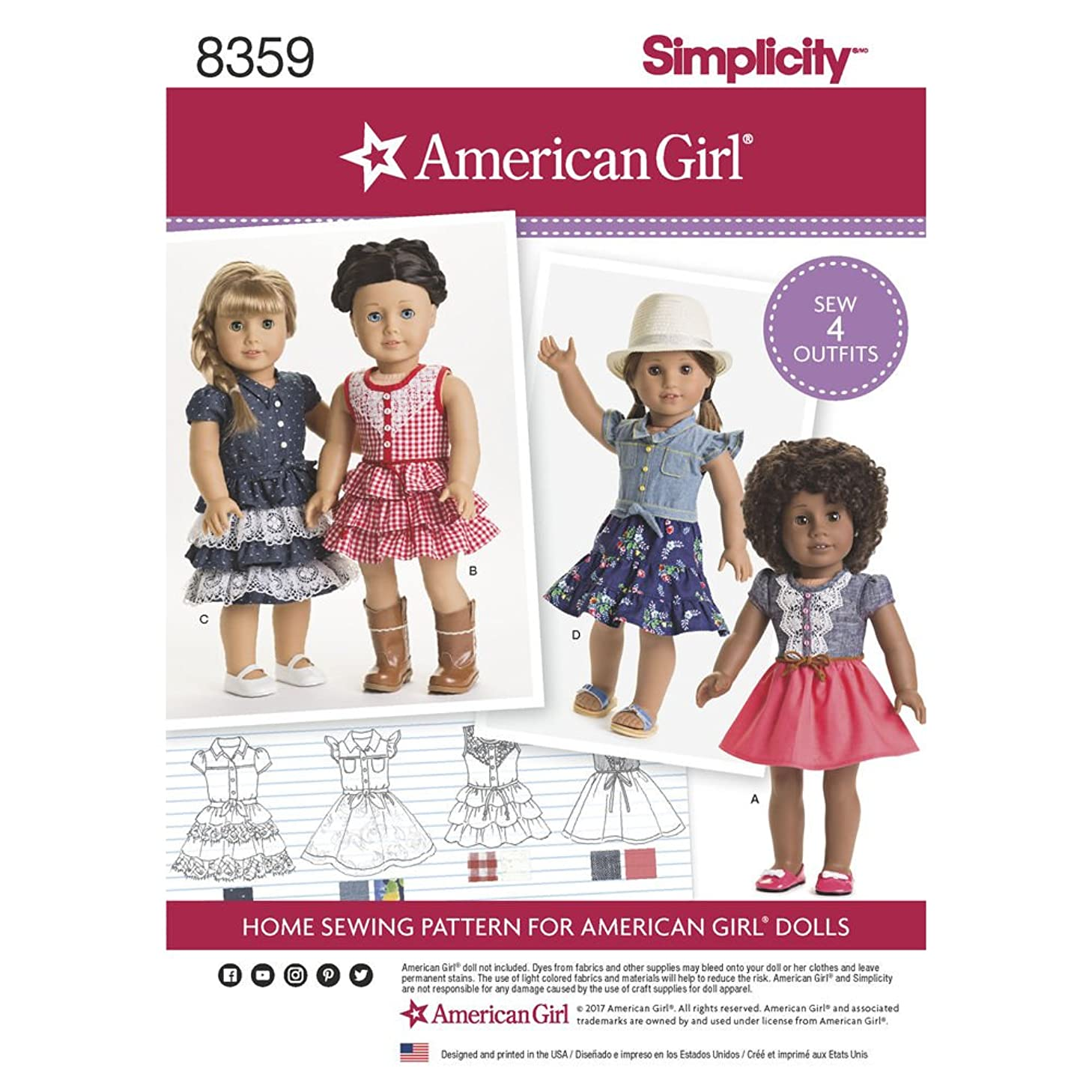 Simplicity Sewing Pattern D0680 / 8359 - 18