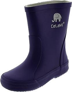 CeLaVi Basic Wellies-Solid, Botte de Pluie Mixte Enfant